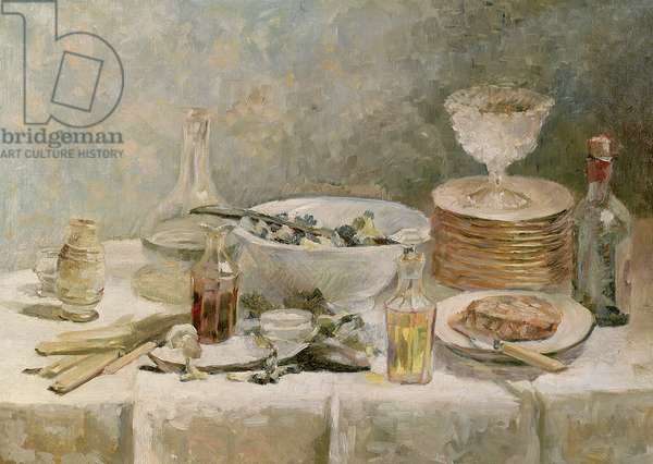 Still Life with Salad, c.1887-88 (oil on canvas)