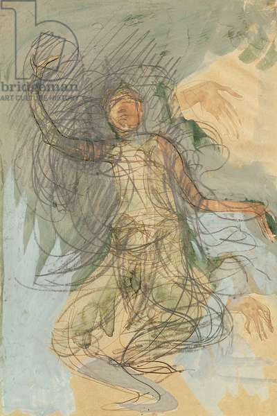 Cambodian Dancer (w/c on paper)