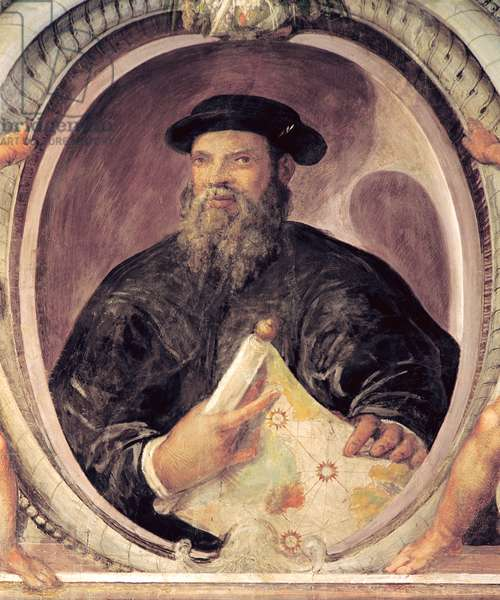 Ferdinand Magellan (c.1480-1521) from the 'Sala del Mappamondo' (Hall of the World Maps) (fresco)