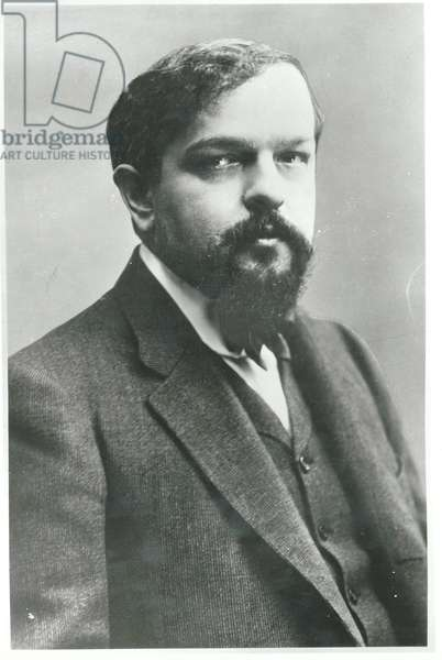 Claude Debussy (1862-1918) (b/w photo)