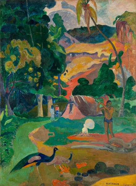 Matamoe or, Landscape with Peacocks, 1892 (oil on canvas)