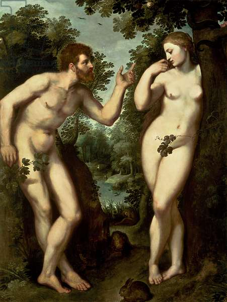 Adam and Eve, c.1599 (oil on panel)