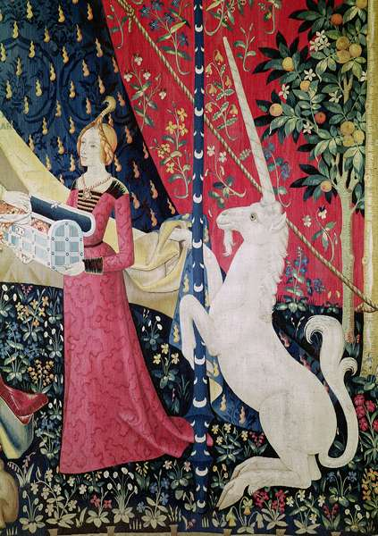 The Lady and the Unicorn: 'To my only desire' (tapestry) (detail of 11819)
