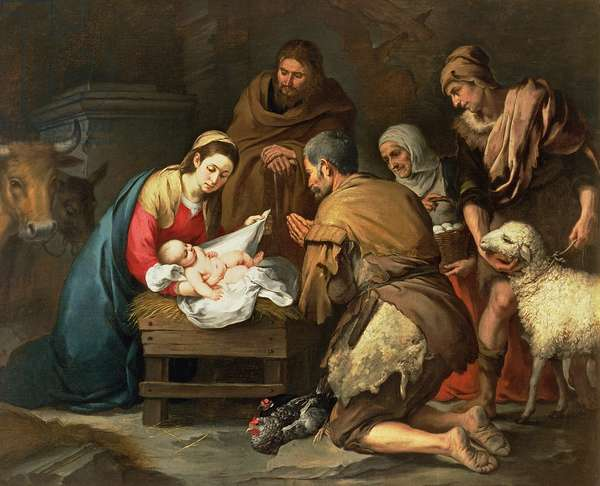 The Adoration of the Shepherds, c.1650 (oil on canvas)