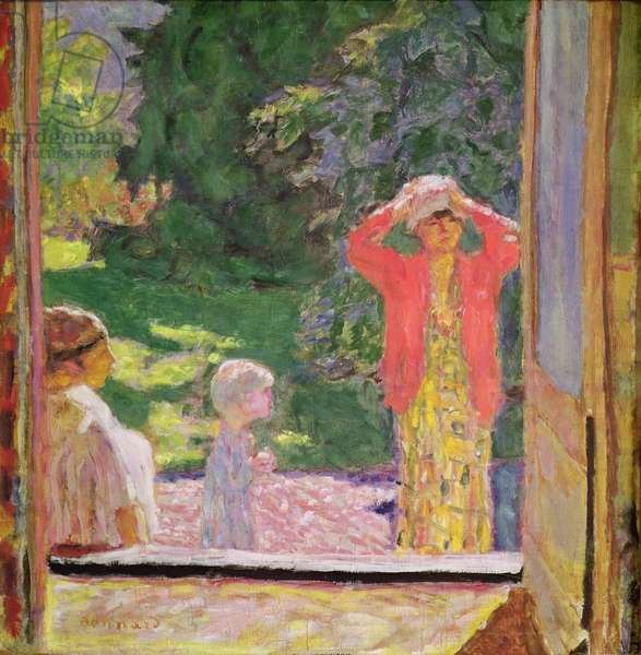In Front of the Window, 1918 (oil on canvas)