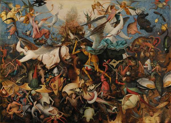 The Fall of the Rebel Angels, 1562 (oil on panel)