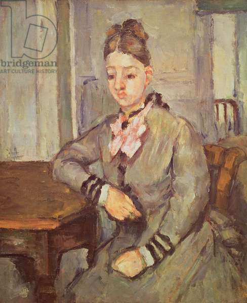 Madame Cezanne Leaning on a Table, 1873-77 (oil on canvas)