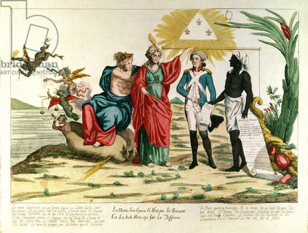 'All Mortals are Equal, it is not Birth but Virtue that Makes the Difference', 1793 (coloured engraving)