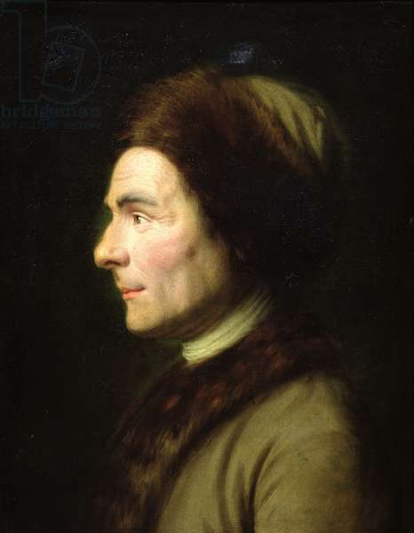 Portrait of Jean-Jacques Rousseau (1712-78) (oil on canvas)