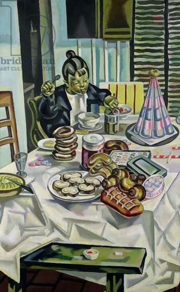 The Child with the Cakes, before 1921 (oil on canvas)