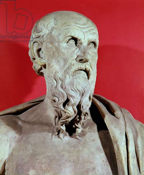 Bust of Hesiod (stone)