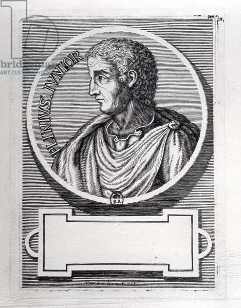 Pliny the Younger (61-113) (engraving) (b/w photo)
