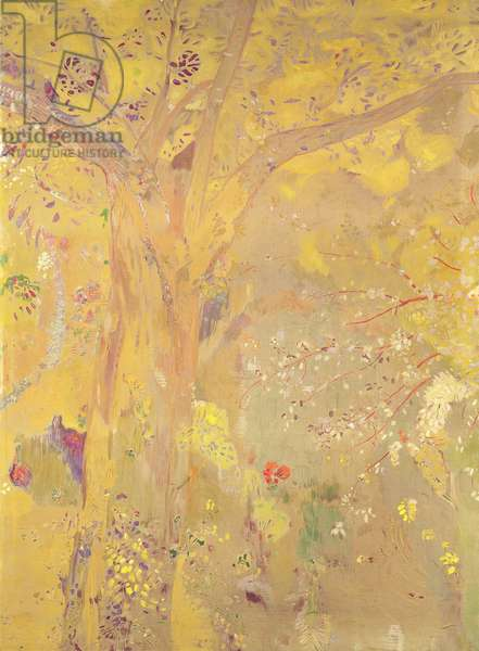 Yellow Tree (decorative panel for the Domecy residence), 1900-01 (oil, tempera & pastel on canvas)
