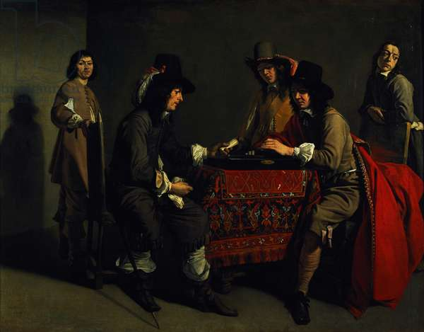 The Backgammon Players (oil on canvas)