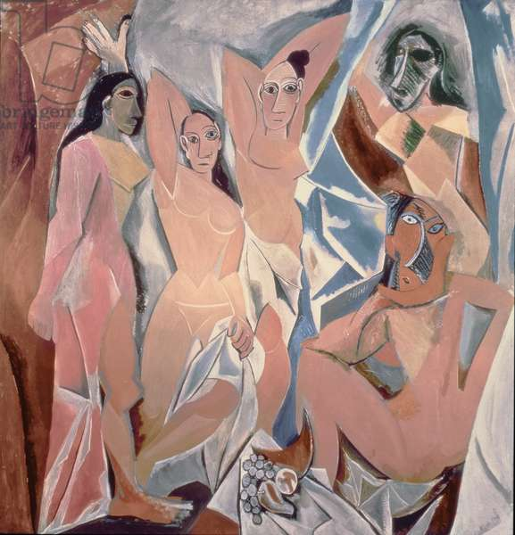 Les Demoiselles d'Avignon, 1907 (oil on canvas)
