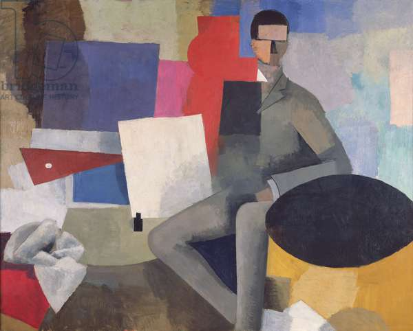 The Seated Man, or The Architect (oil on canvas)