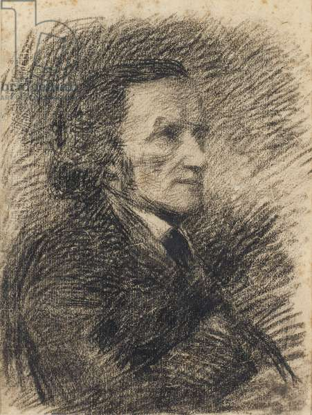 Portrait of Richard Wagner (pencil on paper)