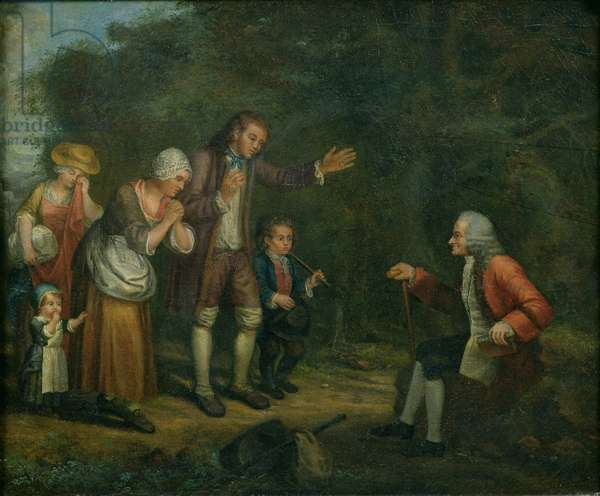 The Calas Family before Voltaire at Ferney (oil on canvas)
