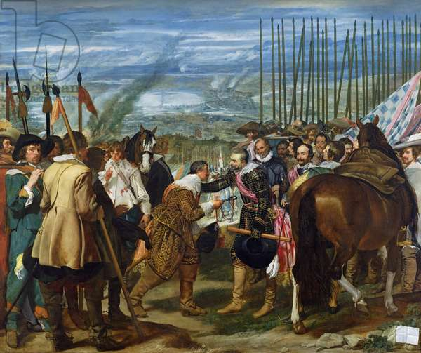 The Surrender of Breda, 1625, c.1635 (oil on canvas) (see also 68345)
