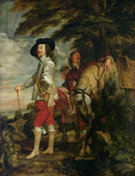 King Charles I (1600-49) of England out Hunting, c.1635 (oil on canvas)