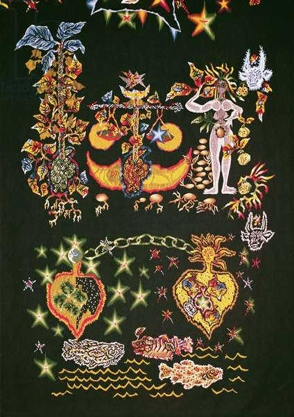 La Poesie, from 'Le Chant du Monde', 1961 (tapestry) (detail of 196264)