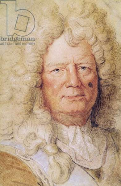 Portrait of Sebastien le Prestre de Vauban (1633-1707) (pastel on paper)