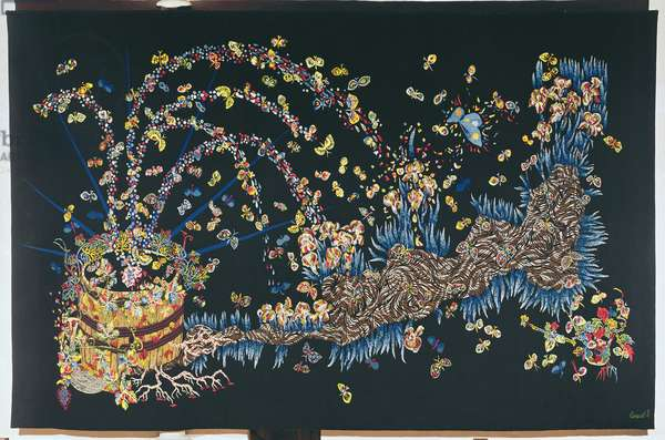 Champagne, from 'Le Chant du Monde', 1959 (tapestry)