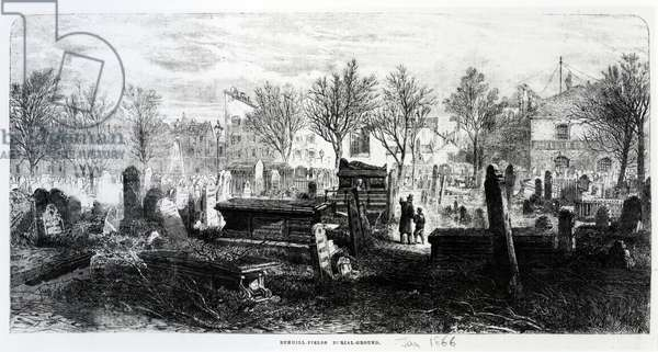 Bunhill Fields, January 1866 (engraving)