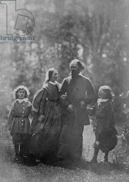 Alfred, Lord Tennyson with his wife Emily and two sons, Hallam and Lionel, c.1862 (albumen print)