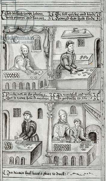 Bakers of York A.D, 1595-96 (engraving) (b/w photo)