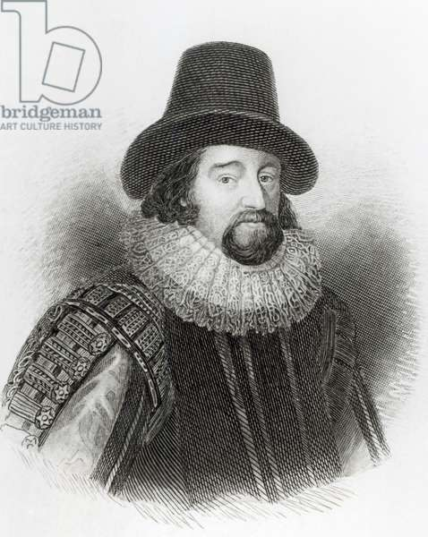 Portrait of Francis Bacon, from 'Lodge's British Portraits', 1823 (engraving) (b/w photo)