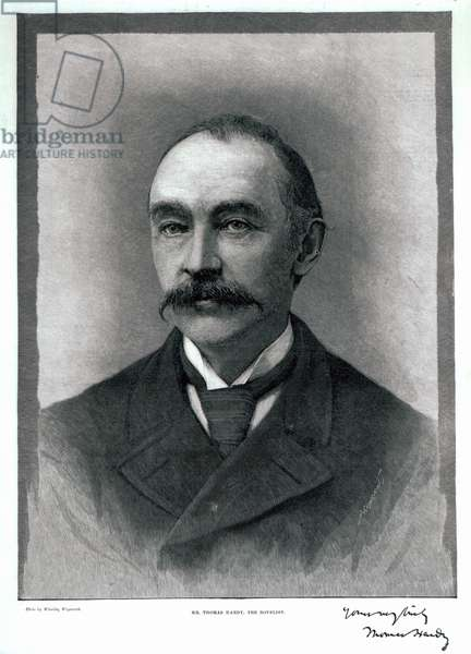 Thomas Hardy, 1892 (engraving)
