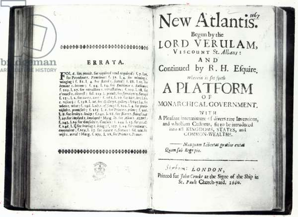 Titlepages to Francis Bacon's 'New Atlantis', edition published in 1660 (print)