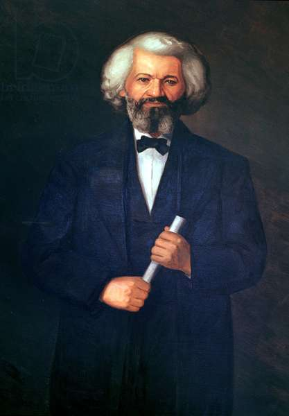 Portrait of Frederick Douglass (1817-95) (oil on canvas)