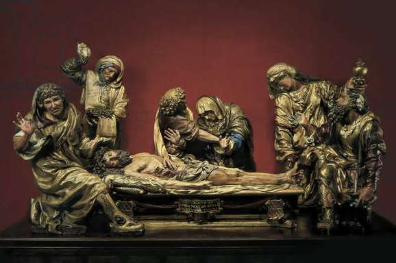 The Entombment of Christ (polychrome wood) (see also 187574)