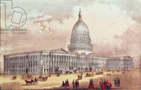United States Capitol, Washington D.C. (colour litho)