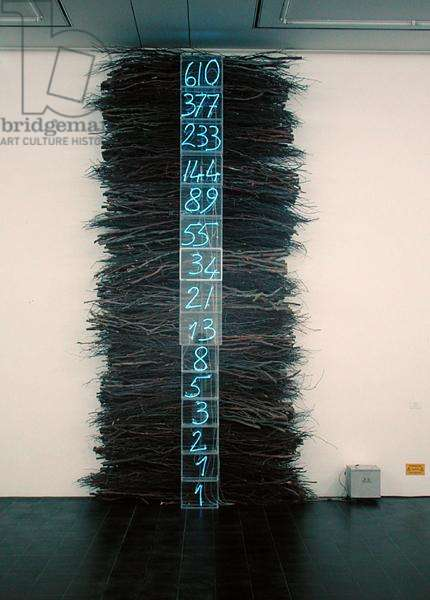 Untitled, 1992-93 (acrylic glass, neon & twigs) (see also 175449)
