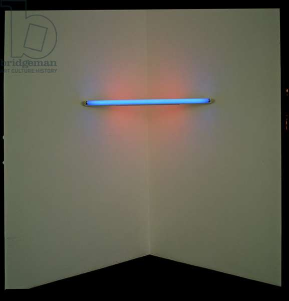 Untitled, 1970 (blue & red fluorescent tube)