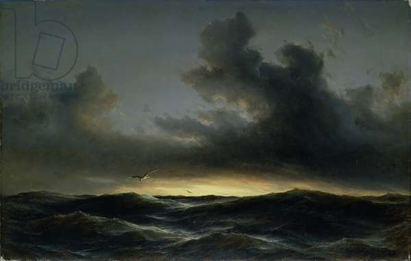 Marine Solitude, 1852 (oil on canvas)