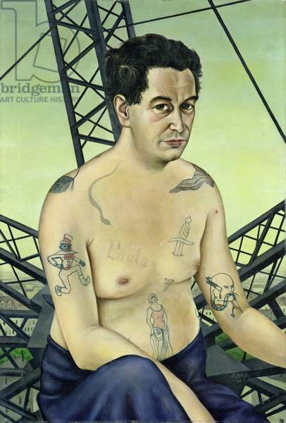 The Journalist Egon Erwin Kisch, 1928 (oil on canvas)