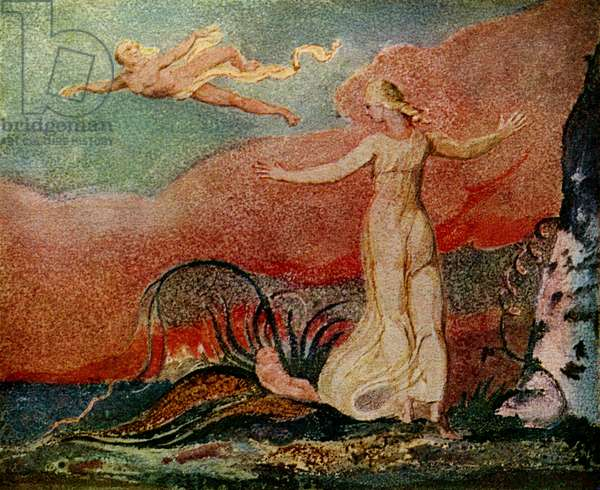 Thel and the Worm by William Blake