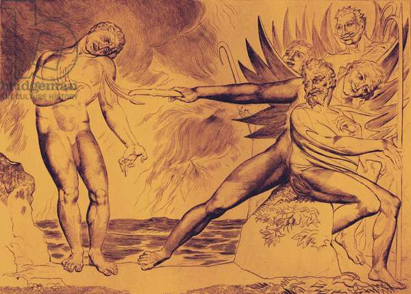 The Demons Tormenting Ceampolo by William Blake