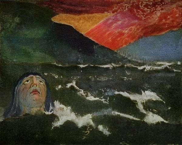 Utha Emerging From the Sea by William Blake