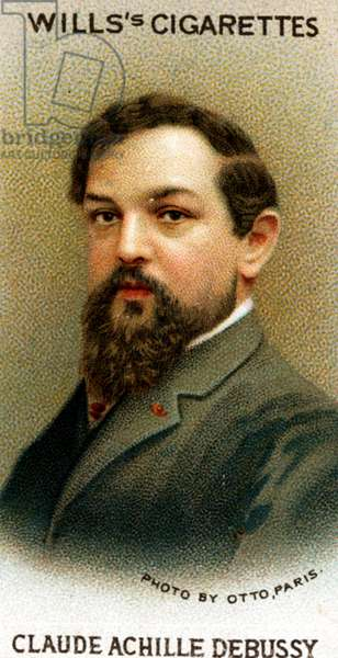 Claude Debussy portrait on