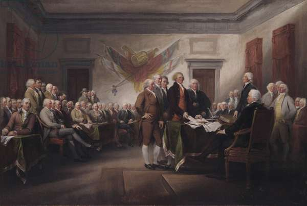 The Declaration of Independence, July 4, 1776, 1817 (oil on canvas)