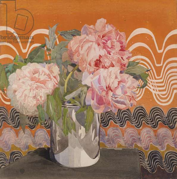 Peonies, c.1920 (w/c, gouache and graphite on paper)