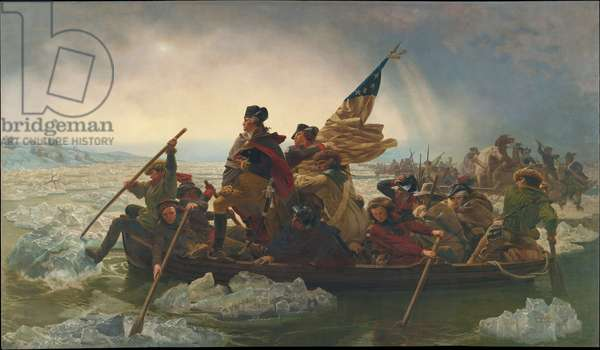 Washington Crossing the Delaware River, 25th December 1776, 1851 (oil on canvas) (copy of an original painted in 1848)