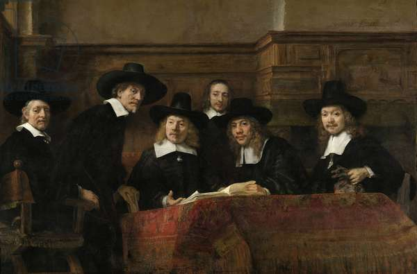 The Wardens of the Amsterdam Drapers' Guild, Known as 'The Syndics', 1662 (oil on canvas)