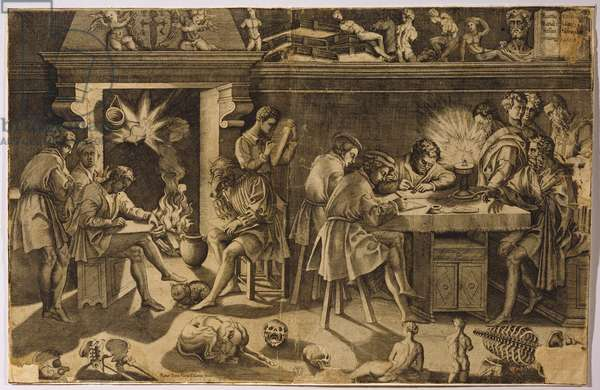 The Academy of Baccio Bandinelli, 1547 (etching)