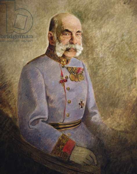 Franz Joseph I of Austria, c.1916 (oil on canvas)